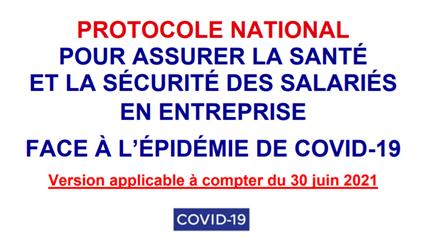 Mise à jour du protocole sanitaire national pour les entreprises